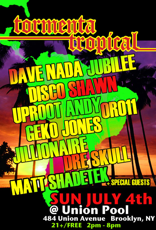 Tormenta Tropical NYC Flyer