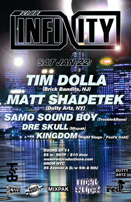 Club Infinity with Tim Dolla, Matt Shadetek and Samo Sound Boy